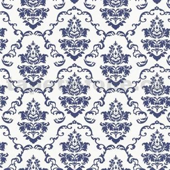 Samolepící tapety ornamenty modré - 45 cm x 15 m