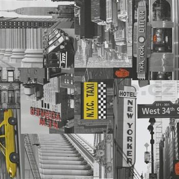 Samolepící tapety City taxi - 45 cm x 15 m