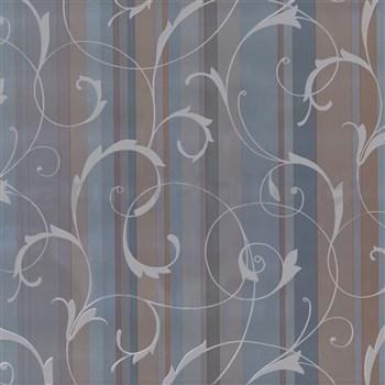 Samolepící tapety ornamenty s pruhy modré - renovace dveří - 90 cm x 210 cm