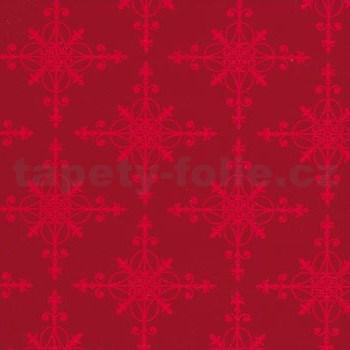 Samolepící tapety sněhové vločky červené 45 cm x 15 m