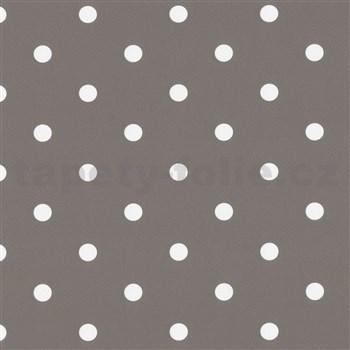 Samolepící tapety puntíky hnědo-šedé 45 cm x 15 m