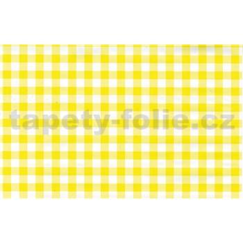 Samolepící tapety káro žluté 45 cm x 15 m