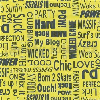 Samolepící tapety text černý 45 cm x 15 m