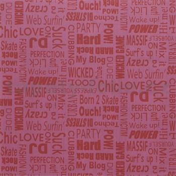 Samolepící tapety text růžový 45 cm x 15 m