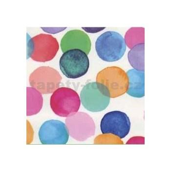 Samolepící tapety puntíky barevné 45 cm x 15 m