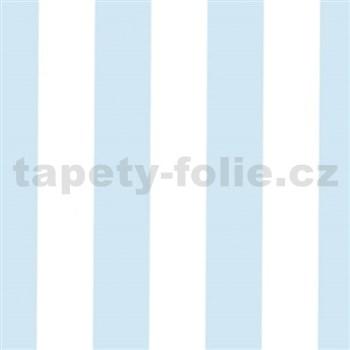 Samolepící tapety široké pruhy modré 45 cm x 15 m