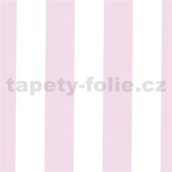 Samolepící tapety široké pruhy růžové 45 cm x 15 m