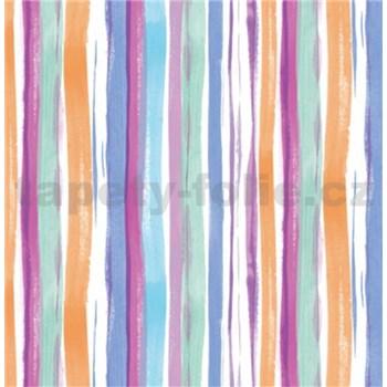Samolepící tapety pruhy barevné 45 cm x 15 m