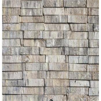 Samolepící tapety dřevěné hranoly šedé 45 cm x 15 m