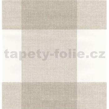 Samolepící fólie čtverce hnědo-bílé - 45cm x 15 m