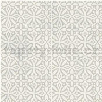 Samolepící fólie ornamenty světle šedé - 45 cm x 15 m