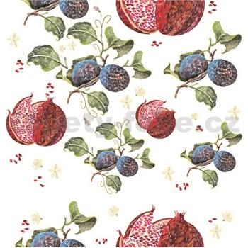 Samolepící folie granátová jablíčka- 45 cm x 2 m