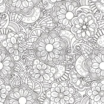 Samolepící tabulová folie Flowers - omalovánky - 67,5 cm x 1,5 m
