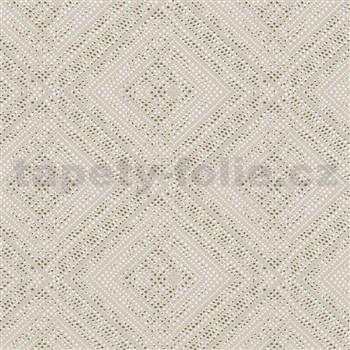 Vliesové tapety na zeď IMPOL Giulia geometrický vzor béžovo-zlatý
