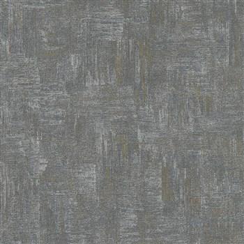 Vliesové tapety na zeď IMPOL Giulia pravidelná stěrka s metalickými odlesky černo-zlatá