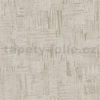 Vliesové tapety na zeď IMPOL Giulia pravidelná stěrka s metalickými odlesky šedo-zlatá