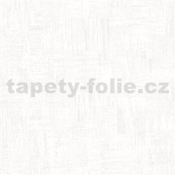 Vliesové tapety na zeď IMPOL Giulia pravidelná stěrka s metalickými odlesky bílá
