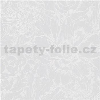 Vliesové tapety na zeď IMPOL Giulia květová koláž šedá