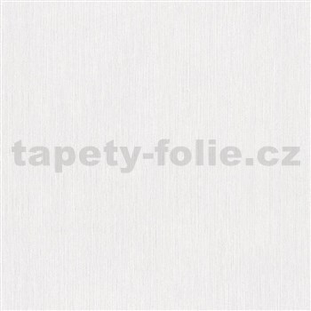 Vliesové tapety na zeď IMPOL Giulia jednobarevná bílá s jemnými metalickými proužky
