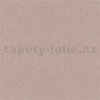 Vliesové tapety na zeď IMPOL Giulia jednobarevná s textilní strukturou červená