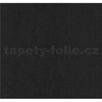 Vliesové tapety na zeď Glamour strukturovaná černá se třpytem