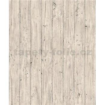 Vliesové tapety na zeď Facade dřevěná prkna světle béžové