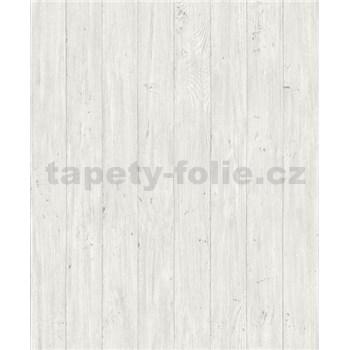 Vliesové tapety na zeď Facade dřevěná prkna světle bílo-šedé