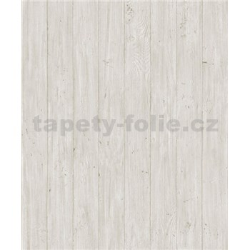 Vliesové tapety na zeď Facade dřevěná prkna světle hnědé