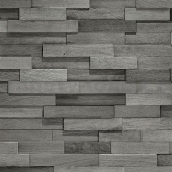 Vliesové tapety na zeď Facade dřevěný obklad šedý