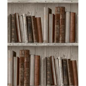 Vliesové tapety na zeď Facade knihovna světlá POSLEDNÍ KUSY