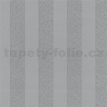 Vliesové tapety na zeď Graphics Alive - pruhy Labyrint stříbrné - SLEVA