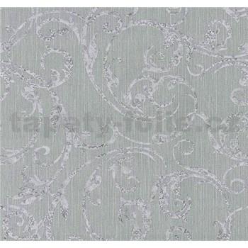 Vliesové tapety na zeď Graziosa ornament světle fialový na šedém podkladu