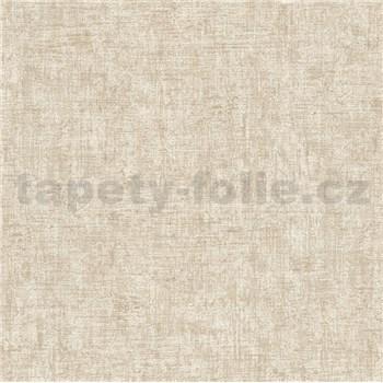 Vliesové tapety na zeď Greenery textilní struktura krémová