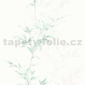 Vliesové tapety na zeď IMPOL Hailey popínavé listy zelené na bílém podkladu