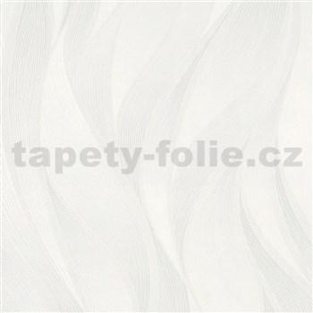 Vliesové tapety na zeď IMPOL Hailey vlnovky krémově bílé