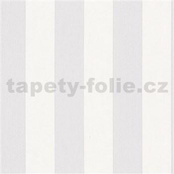 Vliesové tapety na zeď IMPOL Hailey pruhy šedo-bílé