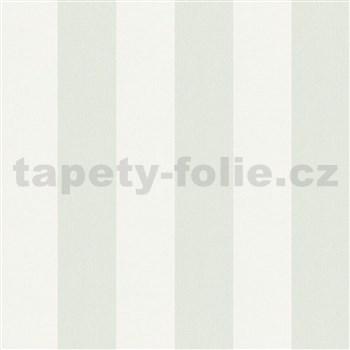 Vliesové tapety na zeď IMPOL Hailey pruhy světle zeleno-bílé