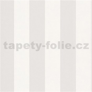 Vliesové tapety na zeď IMPOL Hailey pruhy bílo-hnědé