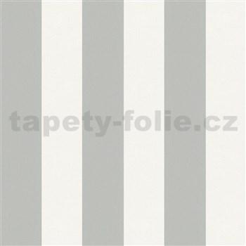 Vliesové tapety na zeď IMPOL Hailey pruhy hnědošedé-bílé