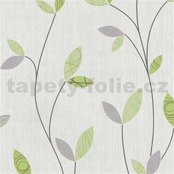 Vliesové tapety na zeď Happy Time - lístky - zelené MEGA SLEVA