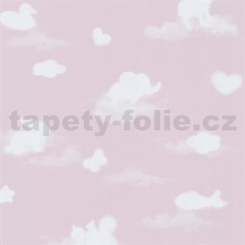 Papírové tapety na zeď Happy Kids 2 - obloha růžová - SLEVA
