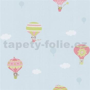 Papírové tapety na zeď Happy Kids 2 - balóny zeleno-růžové