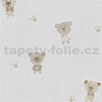 Papírové tapety na zeď Happy Kids 2 - medvěd hnědý, béžový