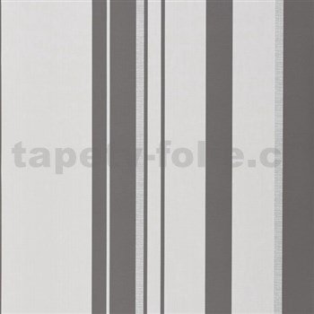 Papírové tapety na zeď pruhy šedo-bílé
