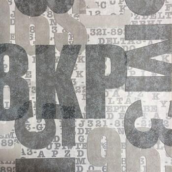 Vliesové tapety na zeď nápisy šedé, hnědé