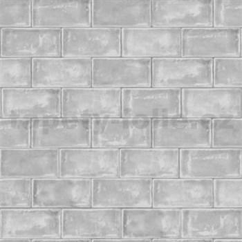 Vliesové tapety na zeď Home cihly šedé