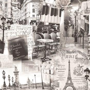 Vliesové tapety na zeď Home Paříž šedá