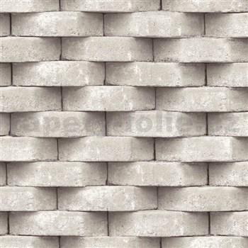 Vliesové tapety na zeď Horizons 3D cihla béžová