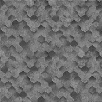 Vliesové tapety na zeď IDEA OF ART plástve šedé - POSLEDNÍ KUSY