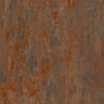 Vliesové tapety na zeď Il Decoro industriální omítka měděná